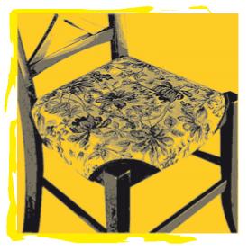 Chaise tapissée