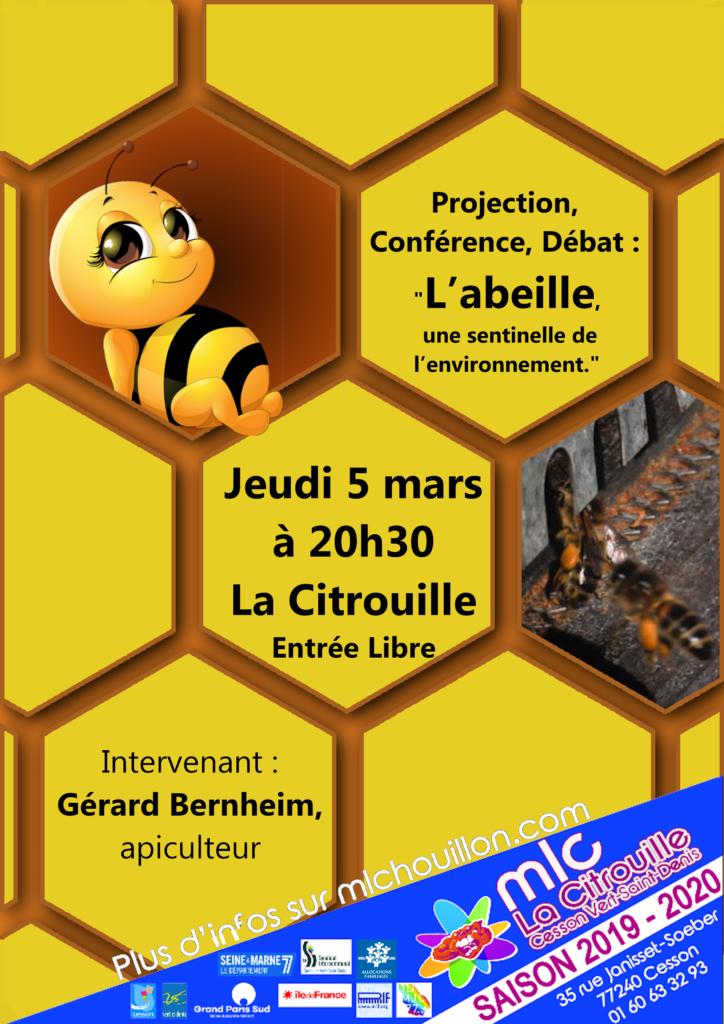 """""""L'abeille, une sentinelle de l'environnement"""" par Gérard Bernheim, apiculteur"""