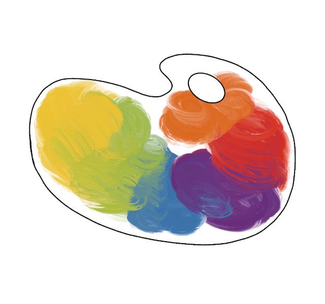 Palette de peinture - Illustration de @lola400iso