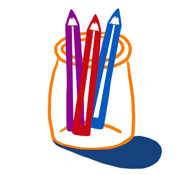 Pot à crayons - Illustration de @lola400iso