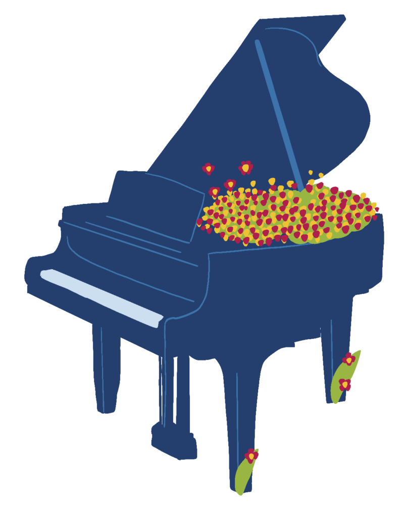 Piano - Illustration de @Lola400iso